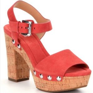 MICHAEL Michael Kors Hayden Platform Sandals 8.5
